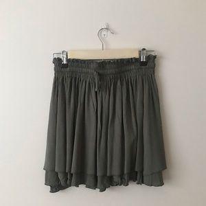 NWT Princess Polly Army Green Skirt